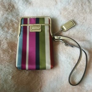 Coach phone wristlet